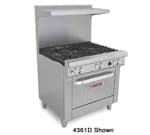 "Southbend 4364D-1G 36"" 4-Burner Gas Range with Griddle, NG"