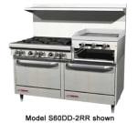 """Southbend 4604AD-2RR 60"""" 6-Burner Gas Range with Griddle & Broiler, LP"""