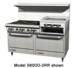 "Southbend 4606DD-2RR 60"" 5-Burner Gas Range with Griddle & Broiler, NG"