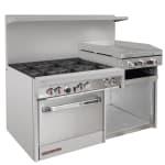 """Southbend S60AC-2RR 60"""" 6-Burner Gas Range with Griddle & Broiler, NG"""