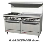 "Southbend S60DD-3GL 60"" 4-Burner Gas Range with Griddle, LP"