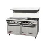 """Southbend S60DD-3GL 60"""" 4 Burner Gas Range with Griddle, NG"""