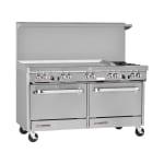 """Southbend S60DD-4GL 60"""" 2 Burner Gas Range with Griddle, LP"""