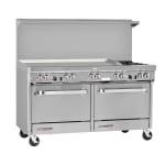 """Southbend S60DD-4T 60"""" 2-Burner Gas Range with Griddle, LP"""