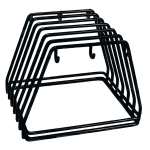 "Update CBRK-6N Cutting Board Rack - Holds 6 Racks, 12x9x10"" Black, Steel"