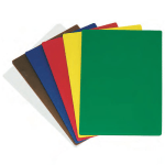 "Update CBS-1520 Poly Cutting Board Set - 15x20x1/2"" (6) Assorted Colors"
