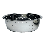 "Update CCOL-11L 12"" Chinese Style Colander - 4.0mm Holes, Stainless"