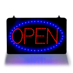Update LED-OPEN LED Open Sign - Hanging Chain, 21-5/8x1-5/8x13