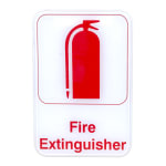 "Update S69-6RD Fire Extinguisher Sign - 6"" x 9"", Red on White"