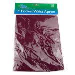 "Update WAP-BU 4 Pocket Waist Apron - 23x12"" Poly/Cotton, Burgundy"