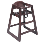 "Update WD-HCMA 30"" Stackable High Chair w/ Waist Strap - Wood, Mahogany"
