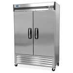 "Norlake NLF49-S 55.25"" Two Section Reach-In Freezer, (2) Solid Doors, 115v"