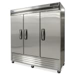 "Norlake NLF72-S 78"" Three Section Reach-In Freezer, (3) Solid Doors, 115v"