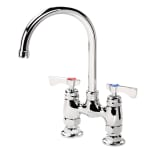 "Krowne 15-401L Low Lead Royal Series Faucet, Deck Mount, 6"" Wide, 4"" Centers"