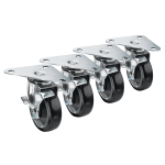 "Krowne 28-161S Large Universal Triangle Plate Caster Set w/ 5"" Wheels"