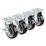 """Krowne 28180S 6"""" Extra Heavy Duty Plate Caster for Double Stacked Convection Ovens"""