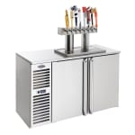 "Krowne DB72L 72"" Draft Beer System w/ (3) Keg Capacity - (1) Column, Stainless, 115v"