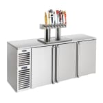 "Krowne DB84R 84"" Draft Beer System w/ (4) Keg Capacity - (1) Column, Stainless, 115v"