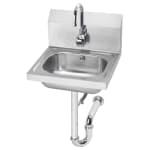 """Krowne HS-12 Wall Mount Commercial Hand Sink w/ 14""""L x 10""""W x 6""""D Bowl, Gooseneck Faucet"""