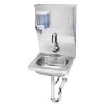 """Krowne HS-13 Wall Mount Commercial Hand Sink w/ 14""""L x 10""""W x 6""""D Bowl, Gooseneck Faucet"""