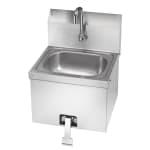 """Krowne HS-15 Wall Mount Commercial Hand Sink w/ 14""""L x 10""""W x 6""""D Bowl, Gooseneck Faucet"""