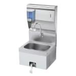 """Krowne HS-16 Wall Mount Commercial Hand Sink w/ 14""""L x 10""""W x 6""""D Bowl, Gooseneck Faucet"""