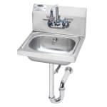 """Krowne HS-4 Wall Mount Commercial Hand Sink w/ 12.5""""L x 9.75""""W x 5.87""""D Bowl, Gooseneck Faucet"""