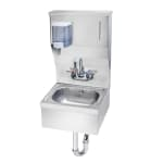 "Krowne HS-8 Wall Mount Commercial Hand Sink w/ 14""L x 10""W x 6""D Bowl, Soap Dispenser"