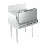 """Krowne KR-DC30 30"""" L Locking Cover for Double Speed Rail, Stainless"""