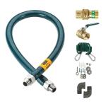 """Krowne M10060K 60"""" Gas Connector Kit w/ 1"""" Male/Male Couplings"""