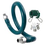 """Krowne M5036K6 36"""" Gas Connector Kit w/ 1/2"""" Male/Male Couplings"""