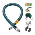"""Krowne M7572K 72"""" Gas Connector Kit w/ 3/4"""" Male/Male Couplings"""