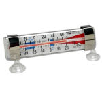 Taylor 3503FS Thermometer, Refrigerator/Freezer, Tube Type, Suction Cup Installation