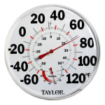 Taylor 497J Wall Thermometer w/ Relative Humidity Scale, -60 to 120 F Degrees