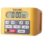 "Taylor 5839N 4 Event Digital Timer - 4.5"" x 6.25"", Yellow"