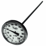 """Taylor 6215J Pocket Thermometer, 3 Point Calibration, 0 to 220 F Degrees, 8"""" Stem"""
