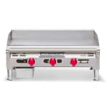 "American Range AETG36LP 36"" Gas Griddle - Thermostatic, 3/4"" Steel Plate, LP"