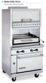 American Range AGBU-WO-4 NG Infrared Broiler w/ 1 Deck, Top Warming Oven, Stainless Exterior, 115000 BTU, NG