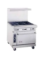 "American Range AR12G4B 36"" 4 Burner Gas Range with Griddle, NG"