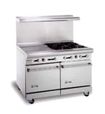 "American Range AR24G4B 48"" 4 Burner Gas Range with Griddle, NG"