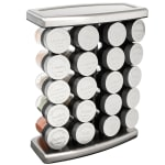 "Olde Thompson 25-728 Traditional Spice Rack w/ (20) Spice Jars - Stainless Steel, 14""H"