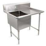 """John Boos 1B16204-1D18R 38"""" 1 Compartment Sink w/ 16""""L x 20""""W Bowl, 14"""" Deep"""