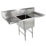 "John Boos 1B184-2D18 57"" 1-Compartment Sink w/ 18""L x 18""W Bowl, 14"" Deep"
