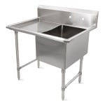 "John Boos 1B244-1D24L 52"" 1 Compartment Sink w/ 24""L x 24""W Bowl, 14"" Deep"