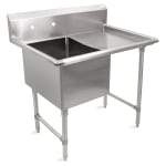 "John Boos 1B244-1D24R 52"" 1 Compartment Sink w/ 24""L x 24""W Bowl, 14"" Deep"