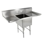 "John Boos 1B244-2D24 75"" 1 Compartment Sink w/ 24""L x 24""W Bowl, 14"" Deep"