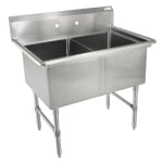 "John Boos 2B18244 41"" 2-Compartment Sink w/ 18""L x 24""W Bowl, 14"" Deep"