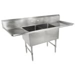 "John Boos 2B18244-2D18 75"" 2-Compartment Sink w/ 18""L x 24""W Bowl, 14"" Deep"