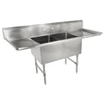 "John Boos 2B184-2D18 75"" 2-Compartment Sink w/ 18""L x 18""W Bowl, 14"" Deep"
