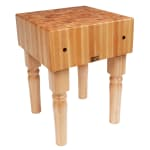 "John Boos AB05 10"" Maple Top Butcher Block Work Table - 24""L x 24""D"